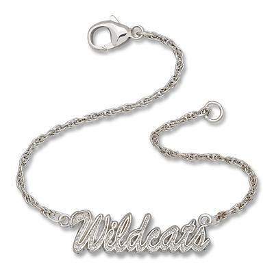 Sterling Silver 7in Kentucky Wildcats Script Bracelet