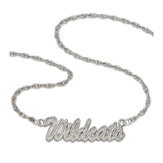 University of Kentucky 18in Sterling Silver Script Necklace