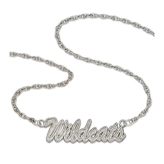 University of Kentucky 18in Sterling Silver Script Necklace