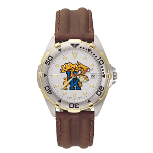 University of Kentucky Mens All Star Leather Watch