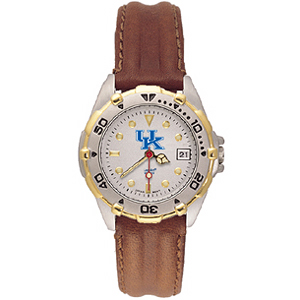 Kentucky Wildcats UK Ladies' All Star Leather Watch
