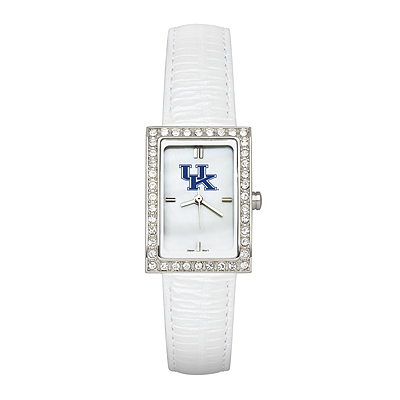 University of Kentucky Ladies' White Leather Allure Watch