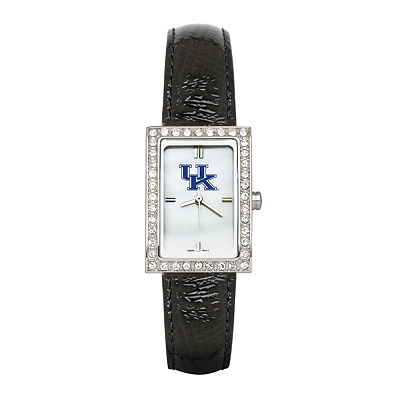 University of Kentucky Ladies Allure Watch Black Leather Strap