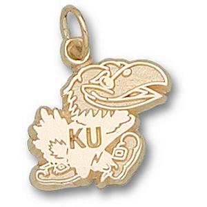 Kansas Jayhawks 1/2in 10k Logo Pendant