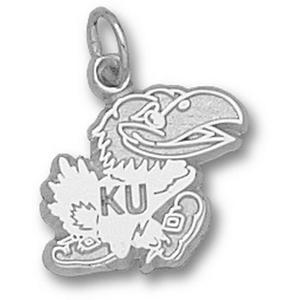 Sterling Silver 1/2in Kansas Jayhawks Polished Mascot Charm
