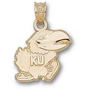 Kansas Jayhawks 1/2in 14k Logo Pendant