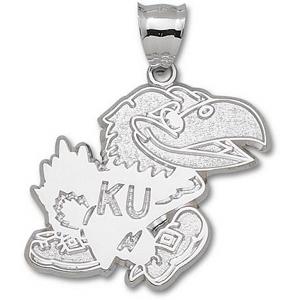 Kansas Jayhawks Giant Sterling Silver Pendant