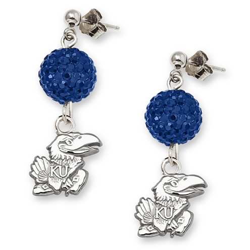 University of Kansas Crystal Ovation Earrings
