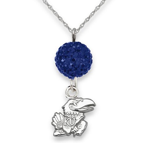 University of Kansas Crystal Ovation Necklace