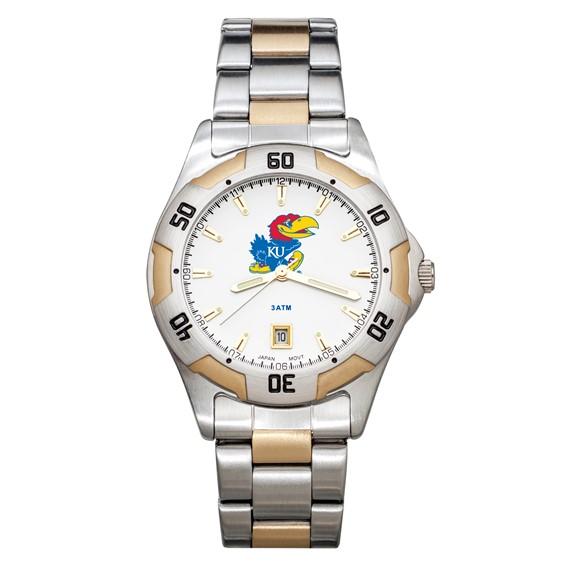 University of Kansas Men's All-Pro Two Tone Watch