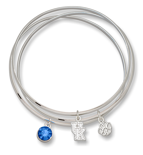 University of Kentucky Triple Bangle Bracelet Set
