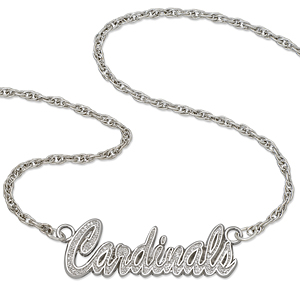 Louisville Cardinals 18in Sterling Silver Script Necklace