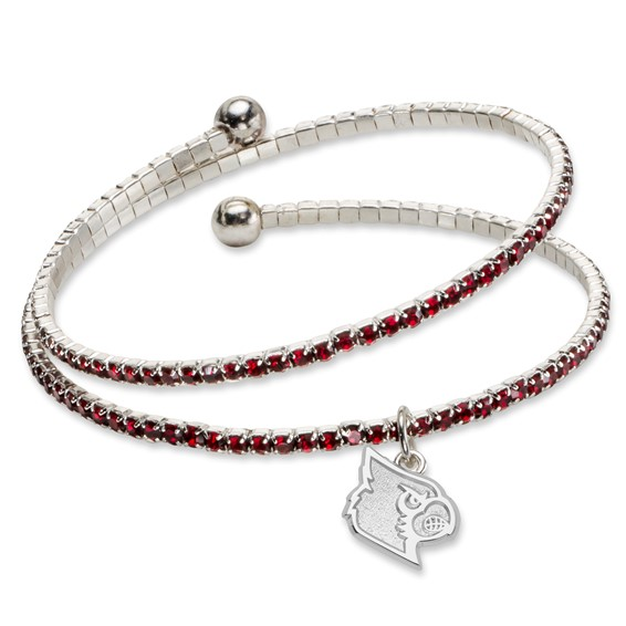 University of Louisville Amped Logo Crystal Bracelet