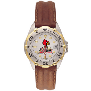 Louisville Cardinals Ladies' All Star Leather Watch