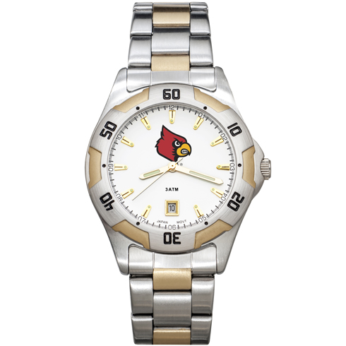 University of Louisville All-Pro Men's Two Tone Watch
