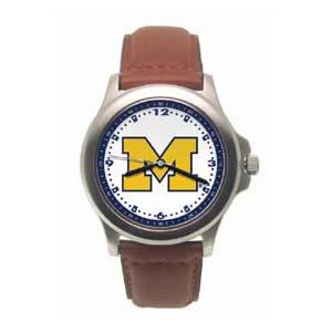 University of Michigan Men's Rookie Leather Watch