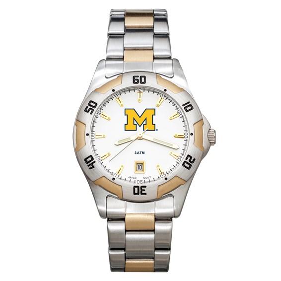 University of Michigan All-Pro Men's Two-Tone Watch