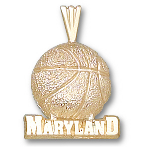 10kt Yellow Gold University of Maryland Basketball Pendant