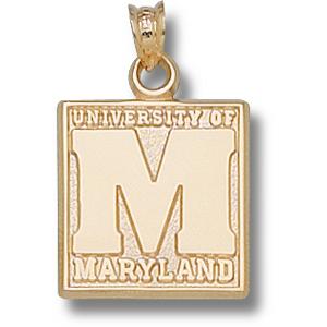 Maryland Terrapins 5/8in 10k Block Pendant