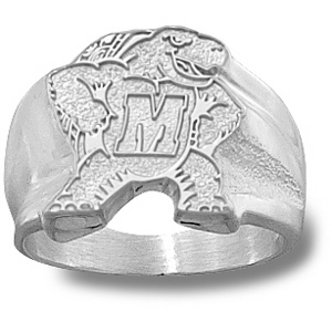 Maryland Terrapins Men's Seal Ring - Sterling Silver