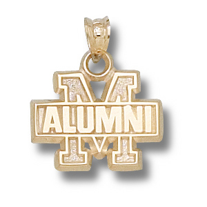 Maryland Terrapins 1/2in 10k Alumni Pendant