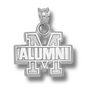 Maryland Terrapins 1/2in Sterling Silver Alumni Pendant