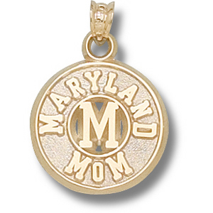 Maryland Terrapins 5/8in 14k Mom Pendant