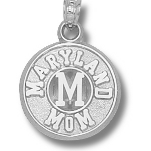 Sterling Silver 5/8in Maryland Mom Pendant