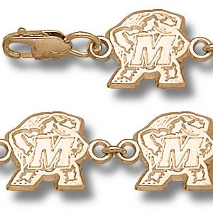 Maryland Terrapins 7.5in 10k Bracelet