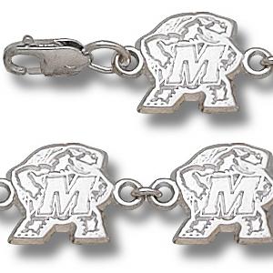 Maryland Terrapins 7.5in Sterling Silver Bracelet