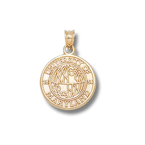 14kt Yellow Gold 5/8in University of Maryland Seal Pendant