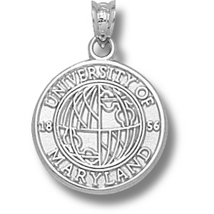 Sterling Silver 5/8in University of Maryland Seal Pendant