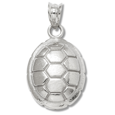 Sterling Silver 5/8in University of Maryland Turtle Shell Pendant