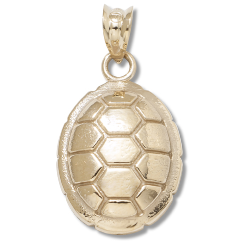 14kt Yellow Gold 5/8in University of Maryland Turtle Shell Pendant