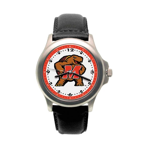 Maryland Terrapins Rookie Leather Watch - Clearance