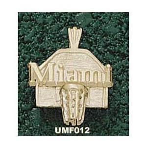 Miami Hurricanes 5/8in 10k Backboard Pendant