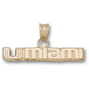 14kt Yellow Gold 1/4in UMIAMI Pendant