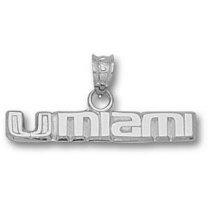 Sterling Silver 1/4in UMIAMI Pendant