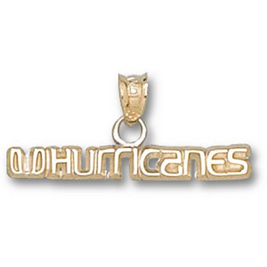 Miami Hurricanes 1/8in 10k Pendant