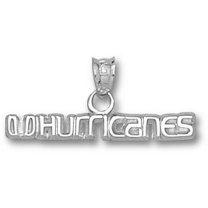 Miami Hurricanes 1/8in Sterling Silver Pendant