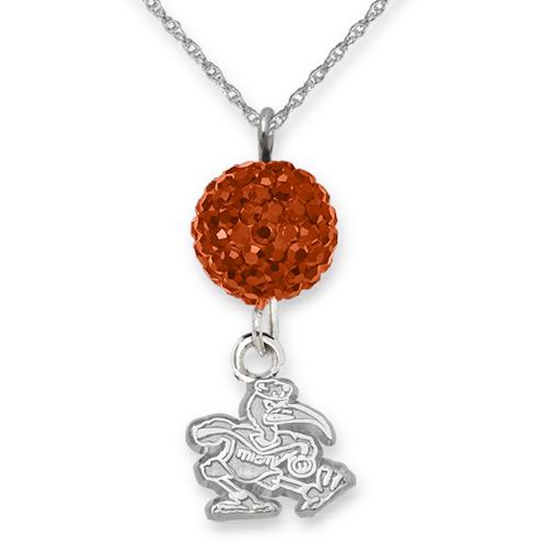 University of Miami Crystal Ovation Necklace