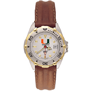 University of Miami Ladies' All Star Leather Watch