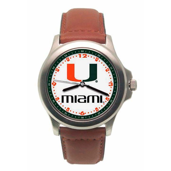 Miami Hurricanes Rookie Leather Watch