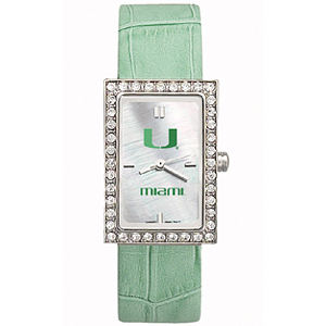 University of Miami Starlette Leather Watch