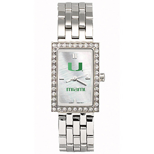 University of Miami Starlette Stainless Steel Watch