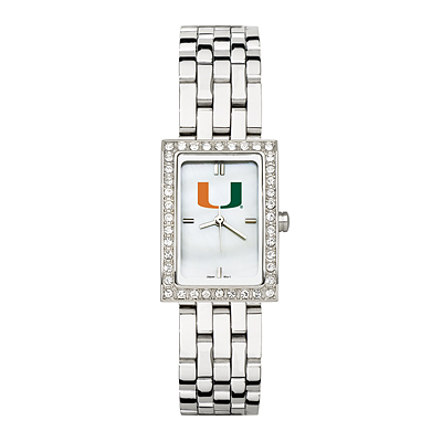 University of Miami Allure Watch Stainless Steel Bracelet