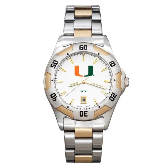 University of Miami All-Pro Men's Two-Tone Watch