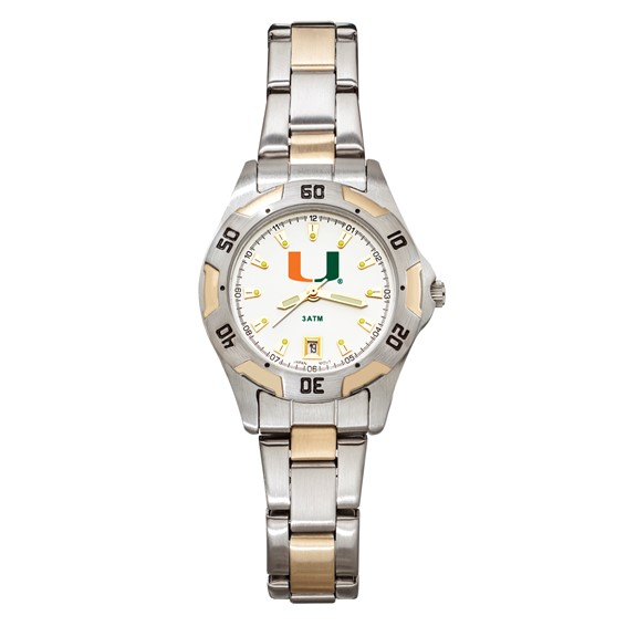 University of Miami All-Pro Women's Two-Tone Watch