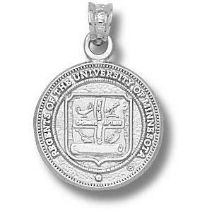 Sterling Silver 5/8in University of Minnesota Seal Pendant