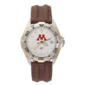Minnesota Gophers Mens All Star Leather Watch